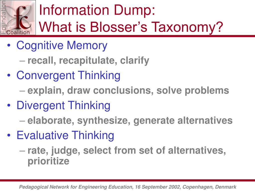 Information Dump: