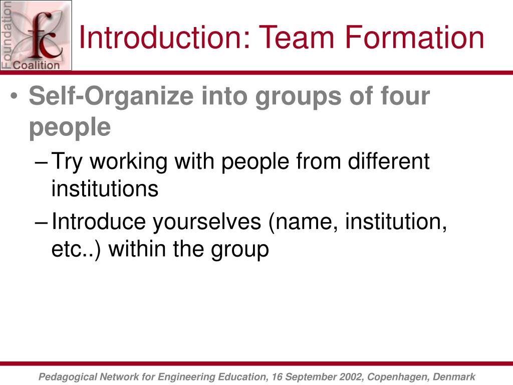 Introduction: Team Formation