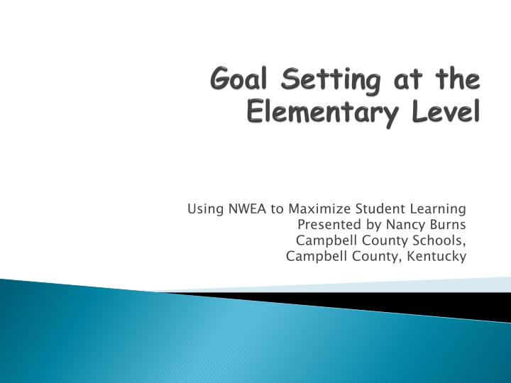 goal setting at the elementary level n.