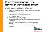 energy information the key to energy management