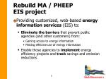 rebuild ma pheep eis project