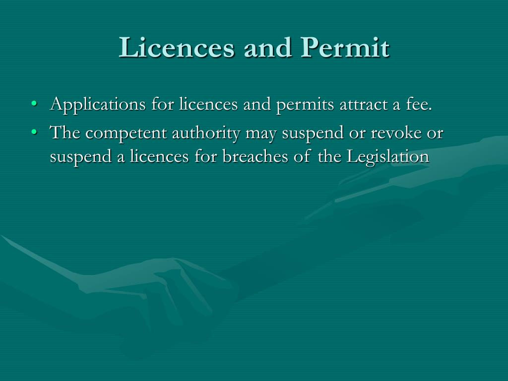 Licences and Permit