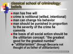 classical school of criminology beliefs