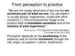 from perception to practice