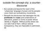 outside the concept city a counter discourse
