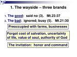 1 the wayside three brands