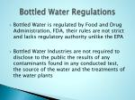 bottled water regulations