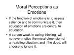 moral perceptions as emotions