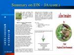 summary on i3n ja cont