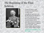 the beginning of the final solution1