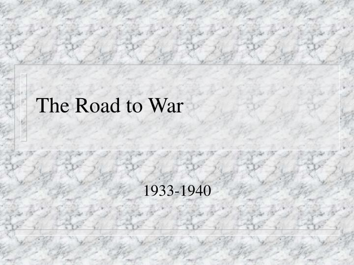 the road to war n.