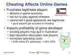 cheating affects online games