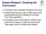 expect respect creating the curriculum