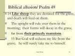 biblical allusion psalm 49