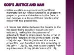 god s justice and man
