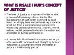 what is risale i nur s concept of justice