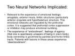 two neural networks implicated