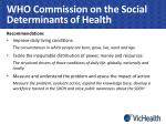 who commission on the social determinants of health