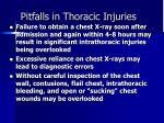 pitfalls in thoracic injuries