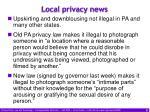 local privacy news
