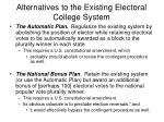 alternatives to the existing electoral college system