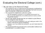 evaluating the electoral college cont2