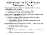 implication of the ec in practice battleground states
