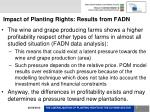impact of planting rights results from fadn