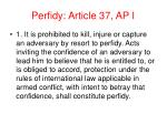 perfidy article 37 ap i