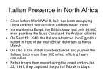 italian presence in north africa