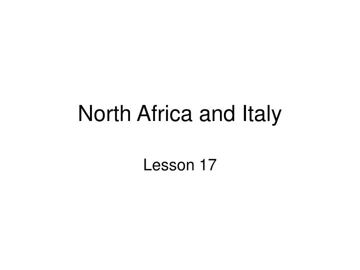 north africa and italy n.