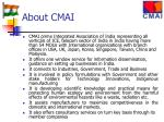 about cmai