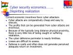 cyber security economics dispiriting realization