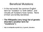 beneficial mutations