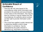 actionable breach of confidence39