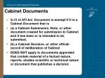 cabinet documents