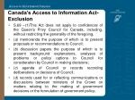 canada s access to information act exclusion