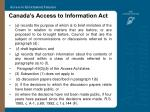 canada s access to information act