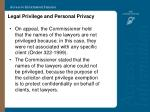 legal privilege and personal privacy36