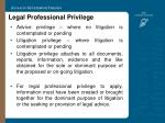 legal professional privilege34