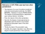 relevance of ati foia case law from other jurisdictions