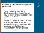 relevance of ati foia case law from other jurisdictions10
