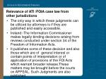 relevance of ati foia case law from other jurisdictions13