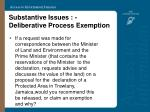 substantive issues deliberative process exemption25