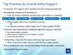 top priorities for overall utility support