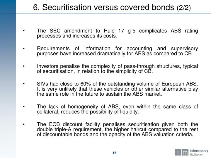 The SEC amendment to Rule 17 g-5 complicates ABS rating processes and increases its costs.