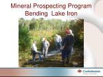 mineral prospecting program bending lake iron