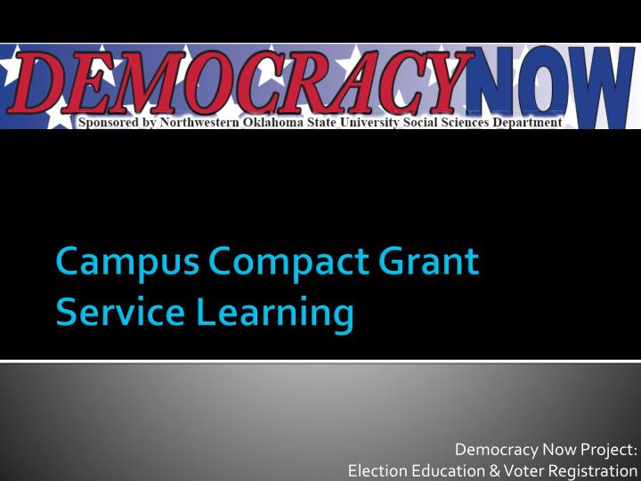 campus compact grant service learning n.