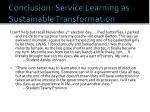 conclusion service learning as sustainable transformation1