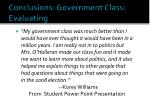 conclusions government class evaluating